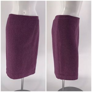 J. Crew Skirt No. 2 Pencil  Purple Herringbone 4